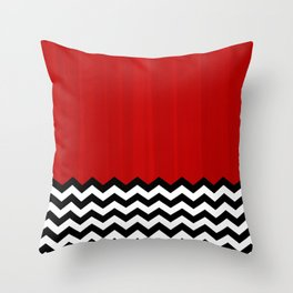 Twin Peaks - The Red Room Throw Pillow