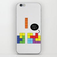 tetris iPhone & iPod Skins featuring Tetris by Digital Sketch