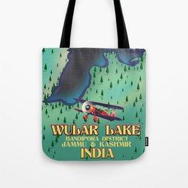 Wular Lake, Bandipora, indian travel poster Tote Bag
