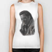 nicolas cage Biker Tanks featuring WILD AT HEART - NICOLAS CAGE by William Wong