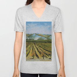 Colors of Napa Valley ll by Lisa Elley, Palette Knife Painting in oil. Unisex V-Neck