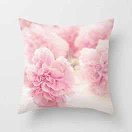 Pale Pink Carnations 2 Throw Pillow