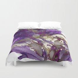 Exotic Purple Flower Duvet Cover