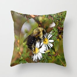 bubbly Bumble bee Throw Pillow