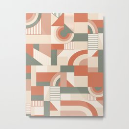 Earthy Blocks #society6 #pattern Metal Print