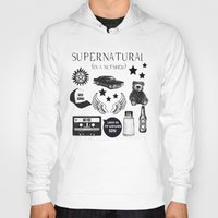 acdc Hoodies featuring Supernatural in a Nutshell by Katie Gaughan