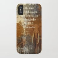 mandela iPhone & iPod Cases featuring Mandela by Shalisa Photography
