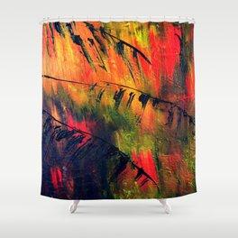 Rainbow Palms Shower Curtain