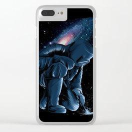 Welder In Space Clear iPhone Case