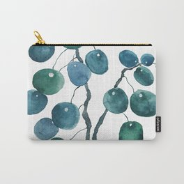 Chinese money plant watercolor Carry-All Pouch