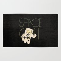 space cat Area & Throw Rugs featuring Space Cat by Koning