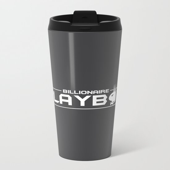 Billionaire Playboy Metal Travel Mug