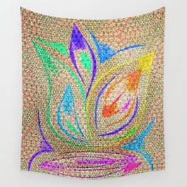 Colorful Lotus flower - uma releitura Wall Tapestry