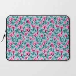 Pink & Teal Lovely Floral Laptop Sleeve