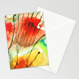 Abstract Red Art - The Promise - Sharon Cummings Stationery Cards