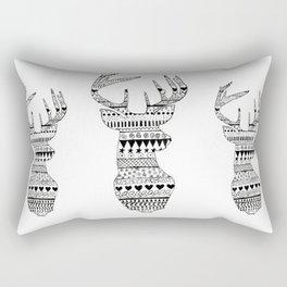 Patterned Deer Rectangular Pillow