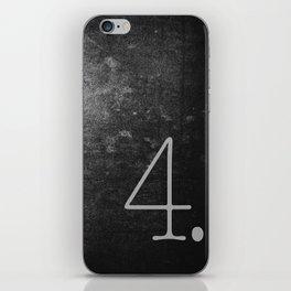 NUMBER 4 BLACK iPhone Skin