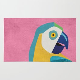 Tropical Home Decor Parrot Art Print Rug