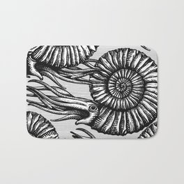 AMMONITE COLLECTION B&W Bath Mat