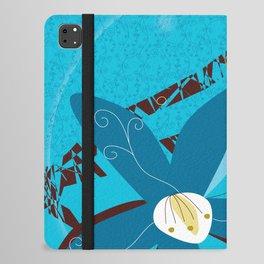 Blue Saucer Magnolia iPad Folio Case