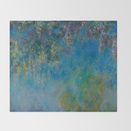 Claude Monet Wisteria Throw Blanket