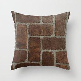 Brick Pattern in Spain Throw Pillow