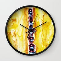 totem Wall Clocks featuring Totem by Jose Luis