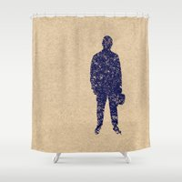 ale giorgini Shower Curtains featuring - closer to the sea - by Magdalla Del Fresto