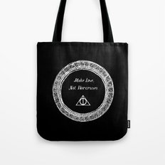 Make Love, Not Horcruxes Tote Bag