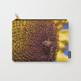 Sunflower + Bee Carry-All Pouch