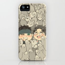 MGS - Snake, Otacon, and 50 Huskies iPhone Case