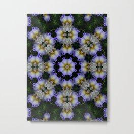 Mandala ~ Iris 94-E2 Metal Print