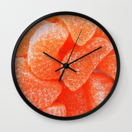 Orange Jelly Candy Wall Clock