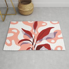 Flat Plant and Blobs Rug