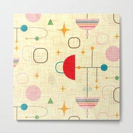 Atomic pattern umbrellas   #midcenturymodern Metal Print