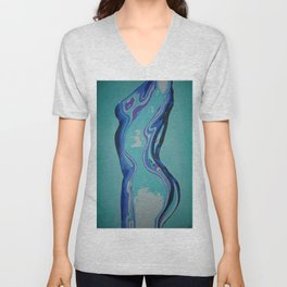 Moulded Glass Beautiful Nude Abstract  Unisex V-Neck