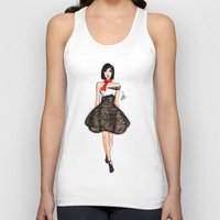 model Tank Tops featuring Model by imrvphoto