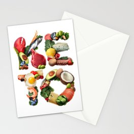 Keto Ketogenic diet Stationery Cards