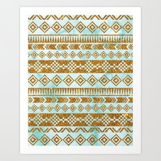 Glitter Tribal Art Print