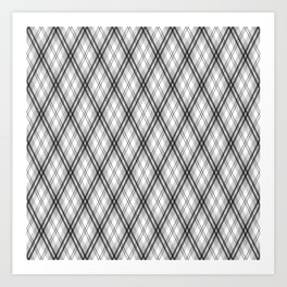 Magic Tartan - Why Am I Seeing Hexagons ? Art Print