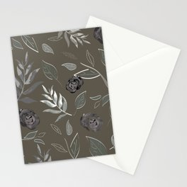 Simple and stylized flowers 17 Stationery Cards