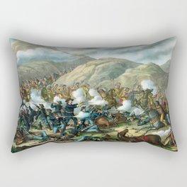 Little Bighorn - Custer's Last Stand Rectangular Pillow