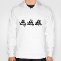 new order Hoodies featuring Eye New World Order by glwadys