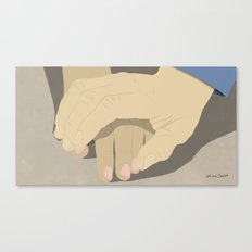 That moment when he tentatively reaches to hold her hand for the first time... Canvas Print