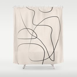 Abstract Line I Shower Curtain