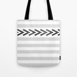 ARROW STRIPE {GRAY} Tote Bag
