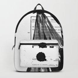 Emma pure black and white Backpack