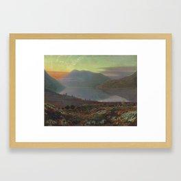 John AtkiJohn Atkinson Grimshaw , Near Lake Windenson Grimshaw , Near Lake Windermere, Cumbria, 1865 Framed Art Print