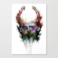 loki Canvas Prints featuring loki by ururuty