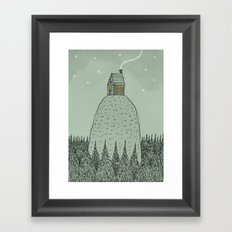 'The house on the hill' Framed Art Print